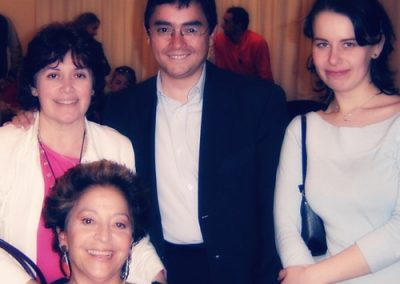 With Madalit Lamazares , Juan Mendoza and Teresa Berganza, Madrid